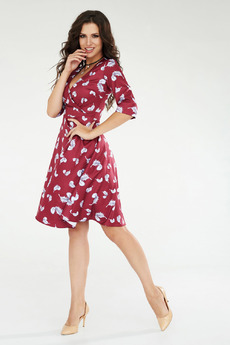 Платье с рисунком перья Angela Ricci