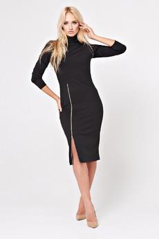 Черное платье с молнией Angela Ricci