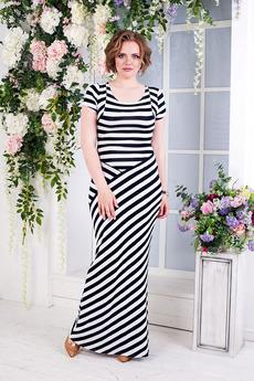 Длинное полосатое платье Angela Ricci