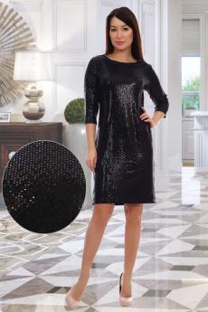 Черное блестящее платье Натали