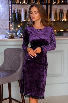 Новинка: велюровое платье фиолетового цвета Open Style