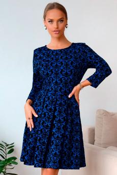 Новинка: синее жаккардовое платье Open Style